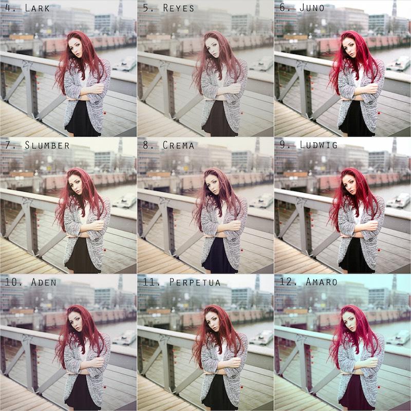 Vorschau Instagram Presets 3 bis 12