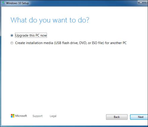 Windows7 ücretsiz Windows10 yükseltme
