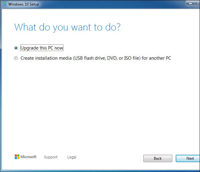 Windows7- ücretsiz Windows10 'a yükselt   Tayfunca Teknoloji