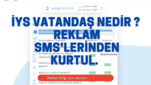 iYS Vatandaş ile Reklam SMS'lerinden kurtul