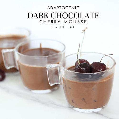 Adaptogenic Dark Chocolate Cherry Mousse