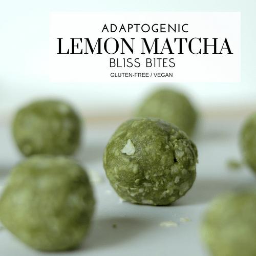 Adaptogenic Lemon Matcha Bliss Bites