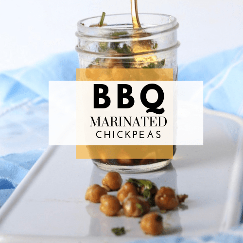 BBQ Marinated Chickpeas (gluten-free + plant-based)