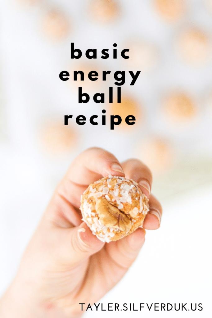 Basic Energy Ball Recipe - Tayler Silfverduk, celiac dietitian, grain free energy balls, gluten-free energy balls, oat-free energy balls, nut-free energy balls
