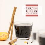 Glögg - Swedish Mulled Wine - Tayler Silfverduk DTR - #mulledwine #swedishmulledwine #swedishtraditions #glutenfreecocktail #glutenfreewinterdrink #wine #spicedwine #glogg #glögg #glutenfreedrink #glutenfreealcohol #celiacdietitians #dietetics #sverige #swedishdrinks #swedishfood #holidaydrinks #glutenfreeholidaydrink #warmingdrink #cinnamon #cloves #clementines #ginger