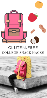 Gluten-Free College Snack Hacks - Tayler Silfverduk - Going to college and need some snack ideas? #snackhacks #glutenfree #celiac #celiacdisease #collegehacks #glutenfreecollege #glutenfreeuniversity #travelsnacks #snackhack #snackideas #snackinspo