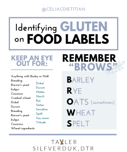 How to Check Food Labels for Gluten - Tayler Silfverduk, DTR - #glutenfreelife #glutenfree #glutenfreelabels #glutenfreefood #glutenfreeeats #glutenfreefood gluten-free food, gluten-free eats, gluten-free life, celiac life, celiac disease, #celiacdisease #celiac, gluten-free food labels, reading food labels, reading food labels, gluten-free education, celiac education, dietetic education, dietitians, #celiaceducation #glutenfreeducation