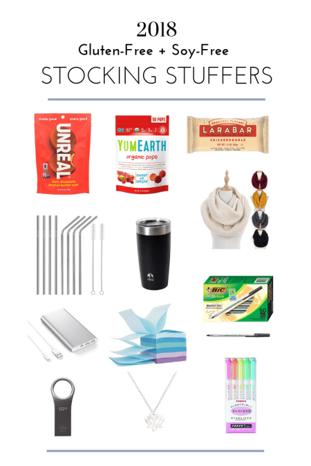 Gluten-Free and Soy-Free Stocking Stuffers - Tayler Silfverduk DTR - #glutenfreestockings #glutenfreestockingstuffers #allergyfreestockingstuffers #glutenfreeholiday #glutenfreegifts #stockingstufferideas #stockingstuffers #glutenfreechristmas #glutenfreeholidays #celiacstockingstuffers #celiacfriendlyholidays #celiacfriendlystockings #dietetics #blogmas