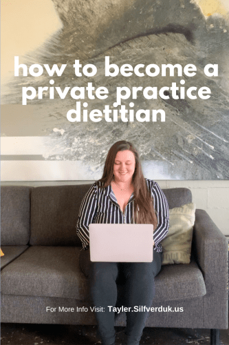 How to Become a Private Practice Dietitian - Tayler Silfverduk, RDN - Check-lists for starting your own nutrition private practice, a new private practice dietitians guide to getting started, start your nutrition business!