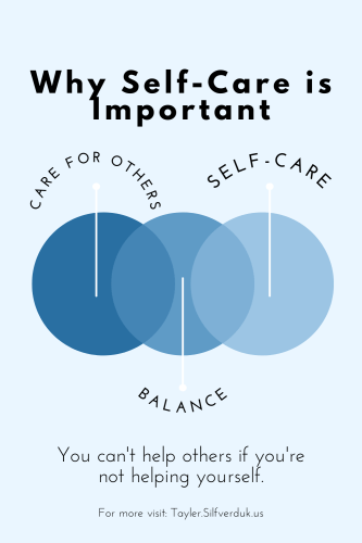 Why self-care is important and thus, a self-care routine is important - Tayler Silfverduk