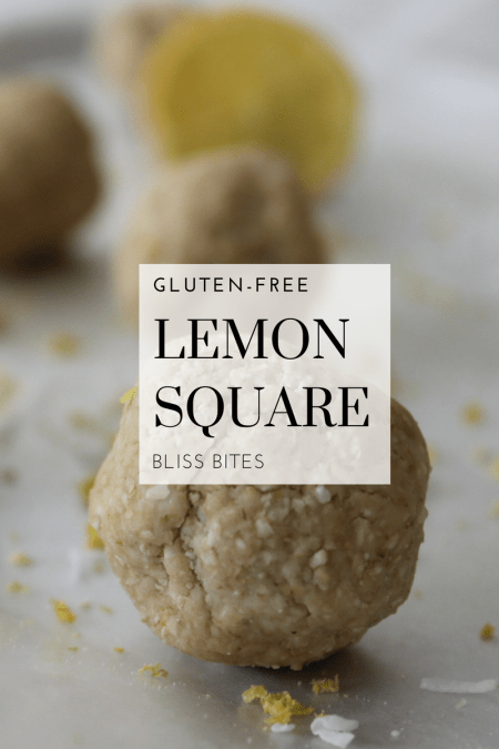 Lemon Square Bliss Bite Recipe - Looking for an quick and easy energy packed treat that is easy to make? Look no further! This gluten-free, vegan, and plant-based recipe is perfect for when you need a quick snack or need to satisfy that sweet tooth!