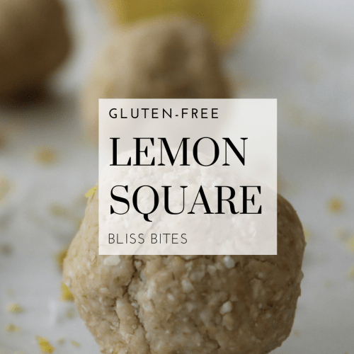 Lemon Square Bliss Bite Recipe