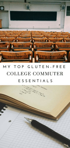 My Top Gluten-Free College Commuter Essentials - Tayler Silfverduk - Starting college soon? Gluten-free and want to know how to commute but still eat safely? Here are my top Gluten-Free Hacks for Commuter College Students #glutenfreecollege #collegehacks #celiacstudent #celiachacks #celiactravelhacks #glutenfreecommuterhacks #commuterstudents #celiacdisease #nutritiontips #glutenfreediethacks