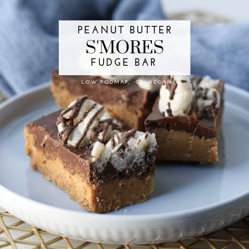 Peanut Butter S'mores Fudge Bar (Low-FODMAP, Gluten-Free, Vegan)