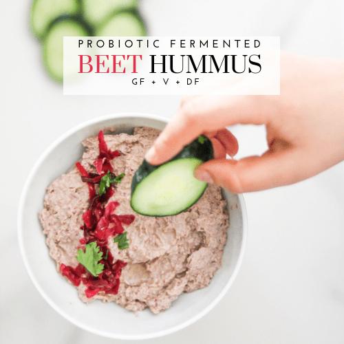 Probiotic Fermented Beet Hummus