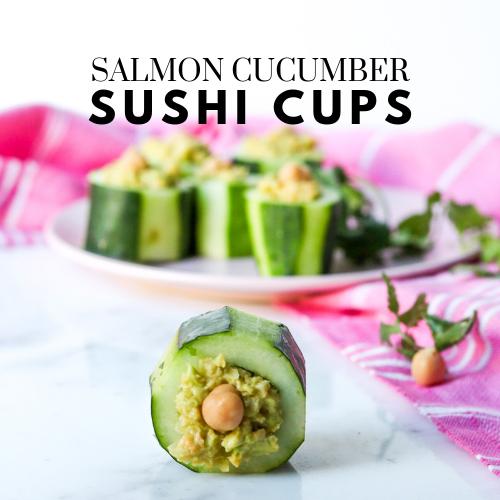 Salmon Cucumber Sushi Cups (gluten-free + grain-free)