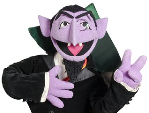 Count Von Count of Seseme Street