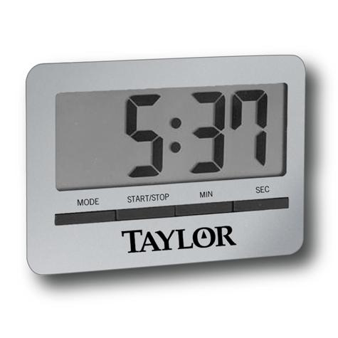 taylor kitchen timer pink rug usa big readout digital with clock and alarm 5846