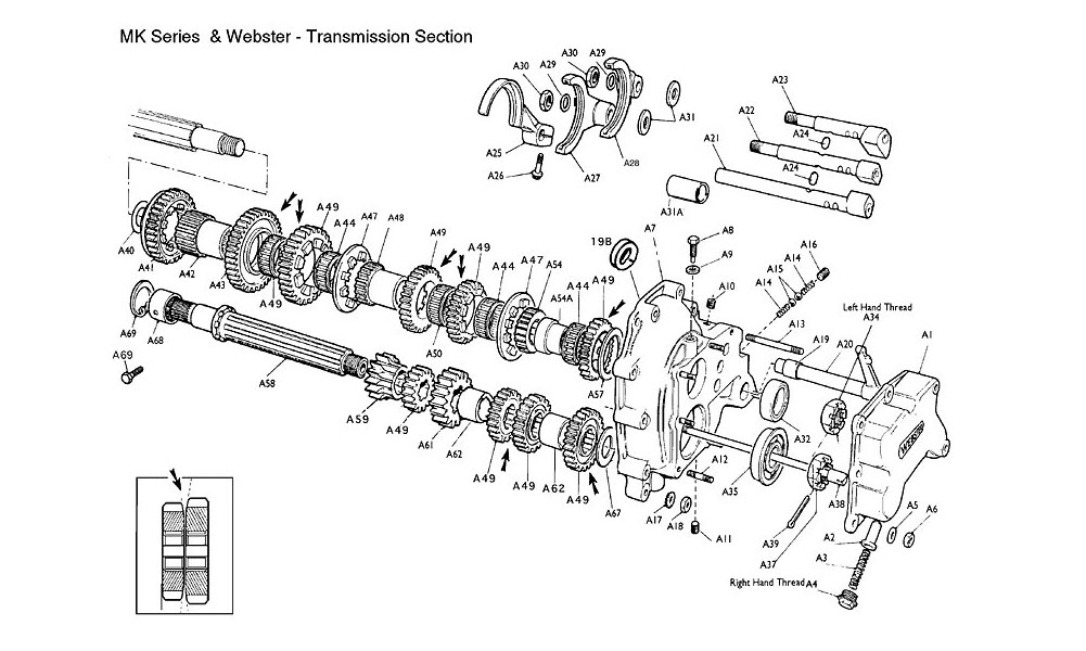Formula Mazda Transmission Section (Common with MK Series
