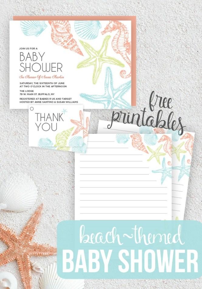 Beach Themed Baby Shower Seaside Printables
