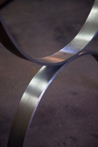 Bright Steel Table Base
