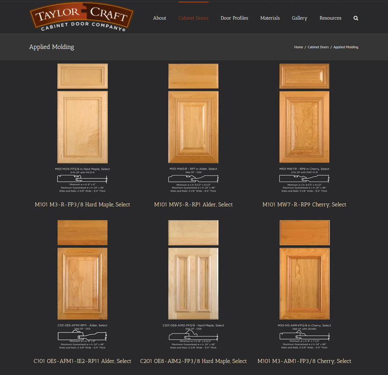 Applied Molding Cabinet Doors TaylorCraft Cabinet Door