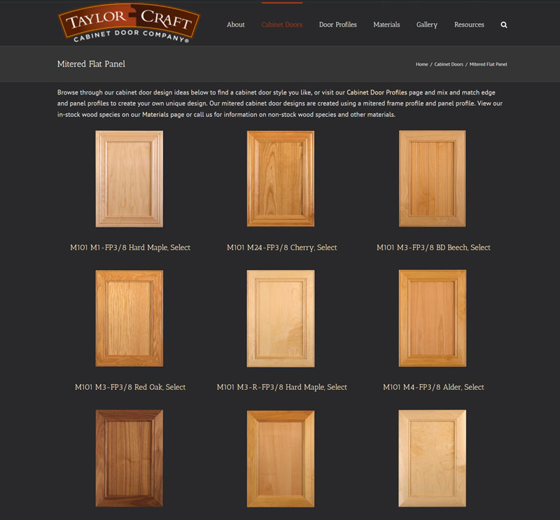 Mitered Flat Panel Cabinet Doors  TaylorCraft Cabinet