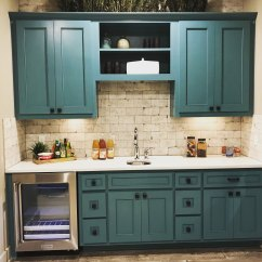Green Kitchen Cabinet Doors Outdoor With Fireplace Wet Bar Blue Cabinets Taylorcraft Door Company