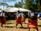 Traditional dance by some students at the closing ceremony of school-based training.