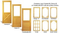 Wooden Screen Doors, MI | Customize Sliding Security Door ...