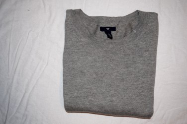 Gap Cropped Gray Sweater