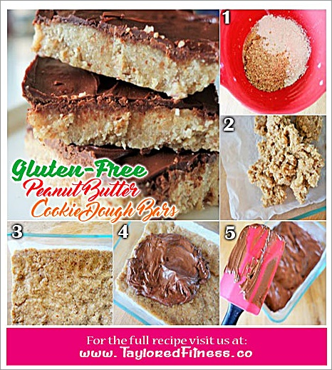Gluten-free Peanut Butter Cookie Dough Bars