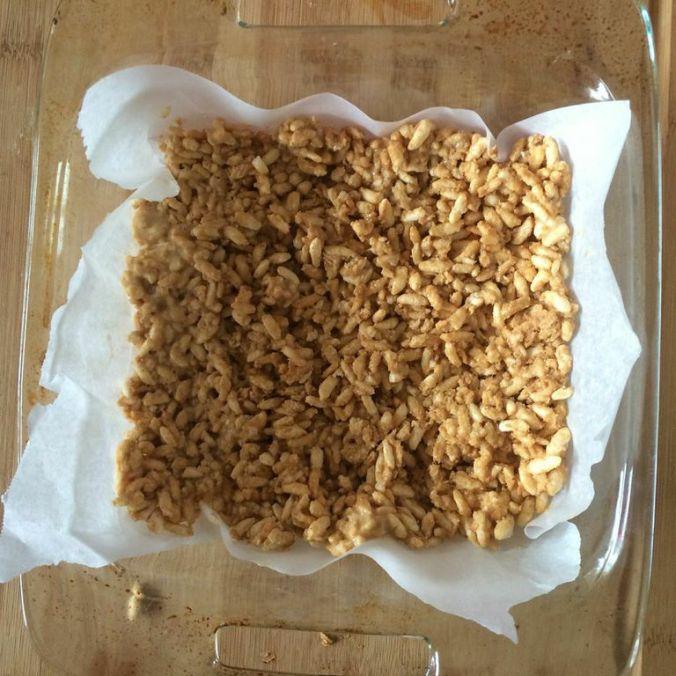 Peanutbutter Protein Rice Crispy Treats