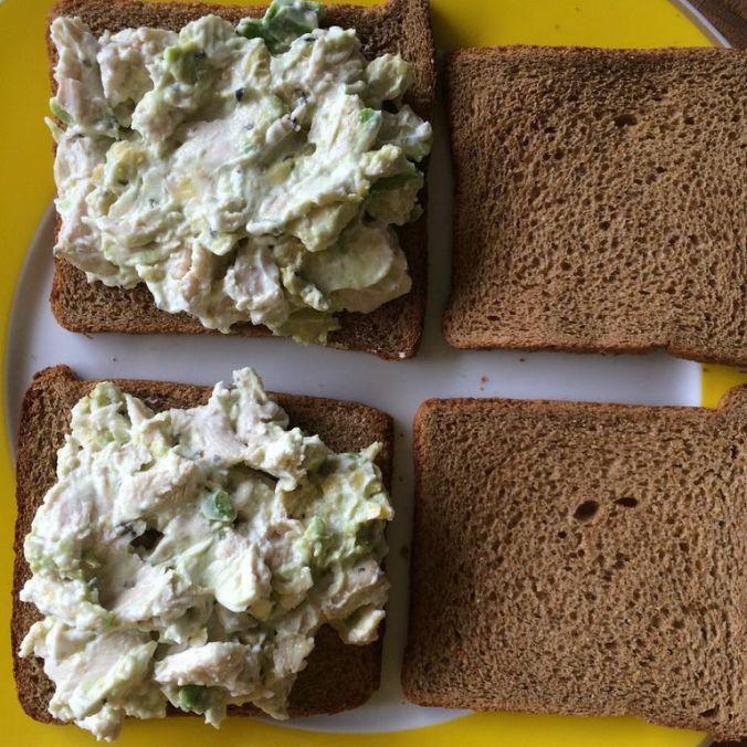 Chicken Avocado Salad Sandiwch