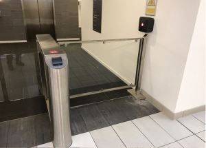 security disabled disability gate door steel fitted