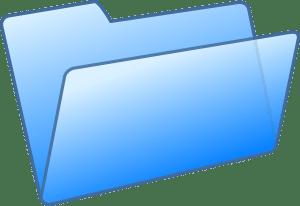 folder, file, blue