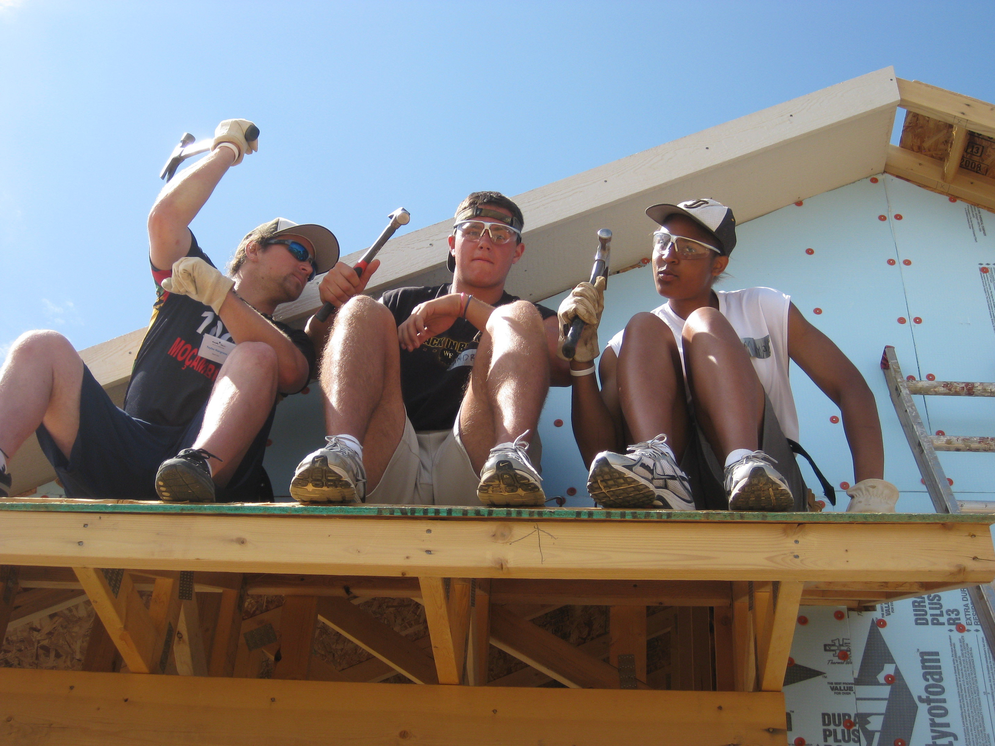 Saturday after the SPECIAL I took a group of 10 athletes to Habitat for Humanity