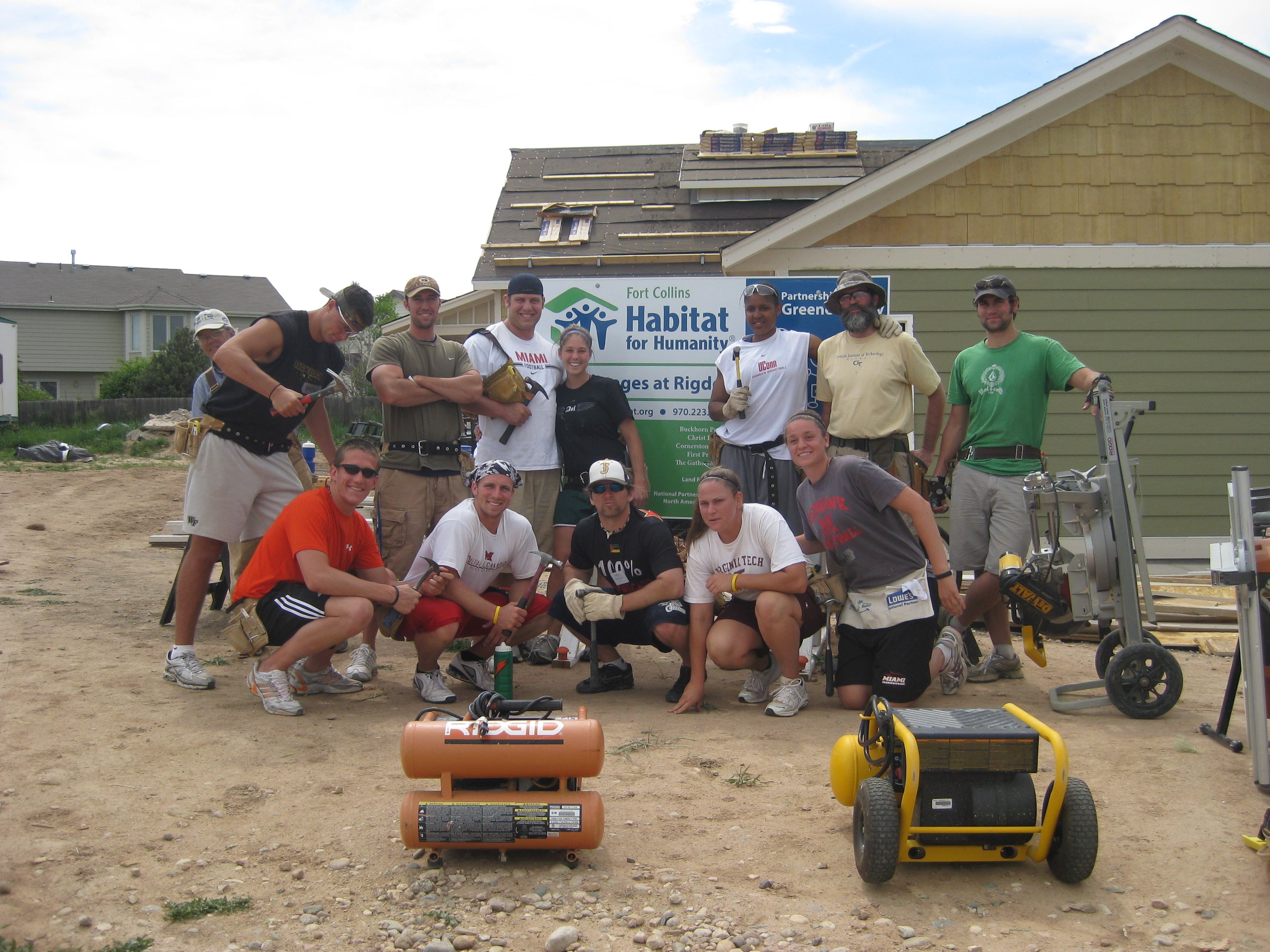 We were exhausted but glad to help out and it was really cool to use the nail guns!