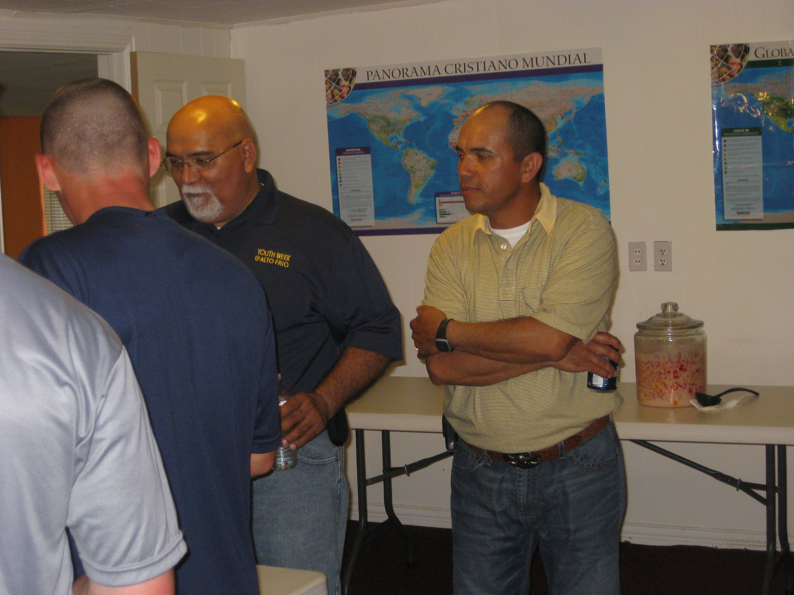 Pastor Felix of El Camino Church and David ( from Nicaragua later shares his story with us as he prepares us for Nicaragua)