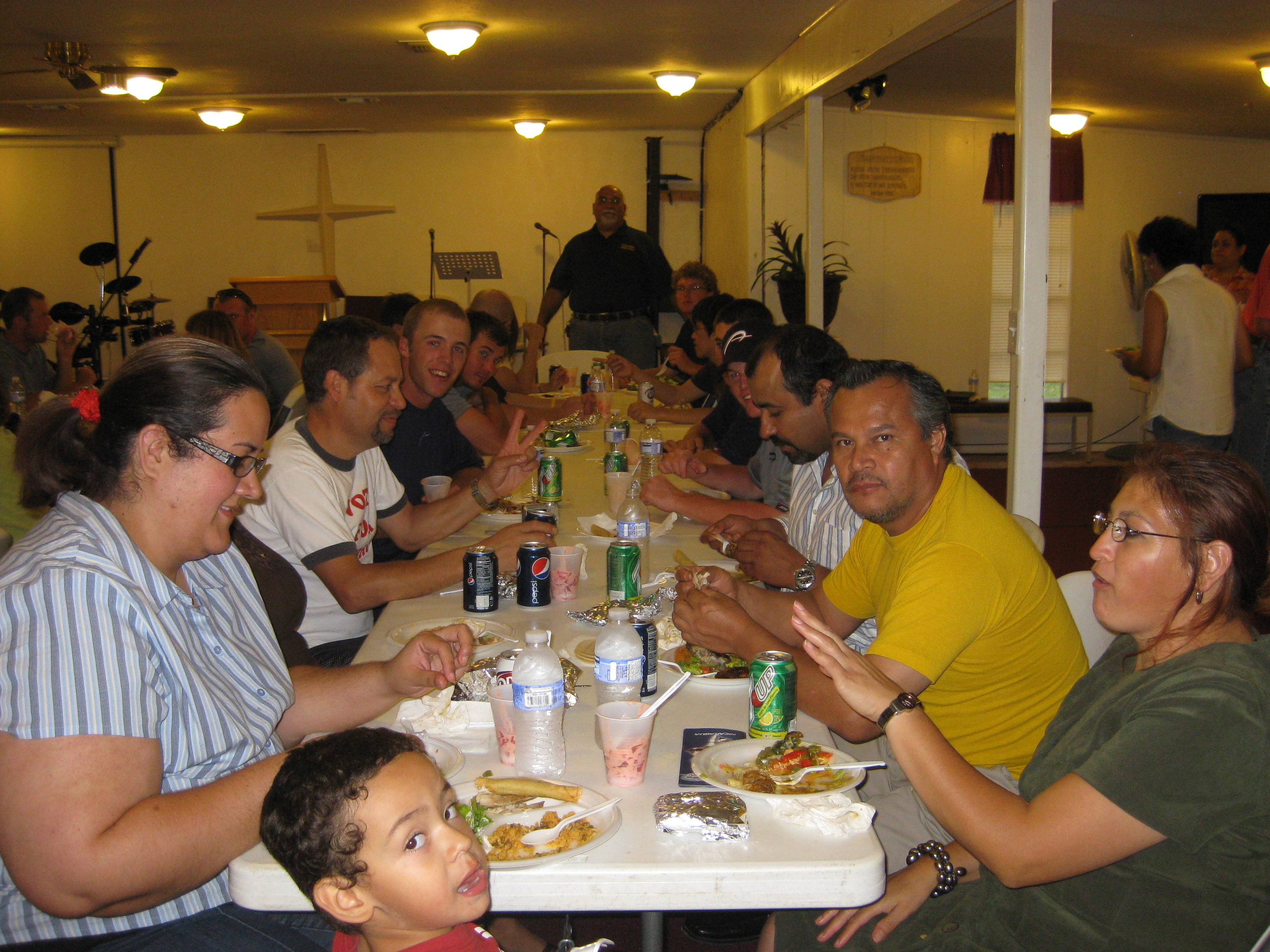 The Church El Camino hosts a dinner for us and prepares us for latin culture.