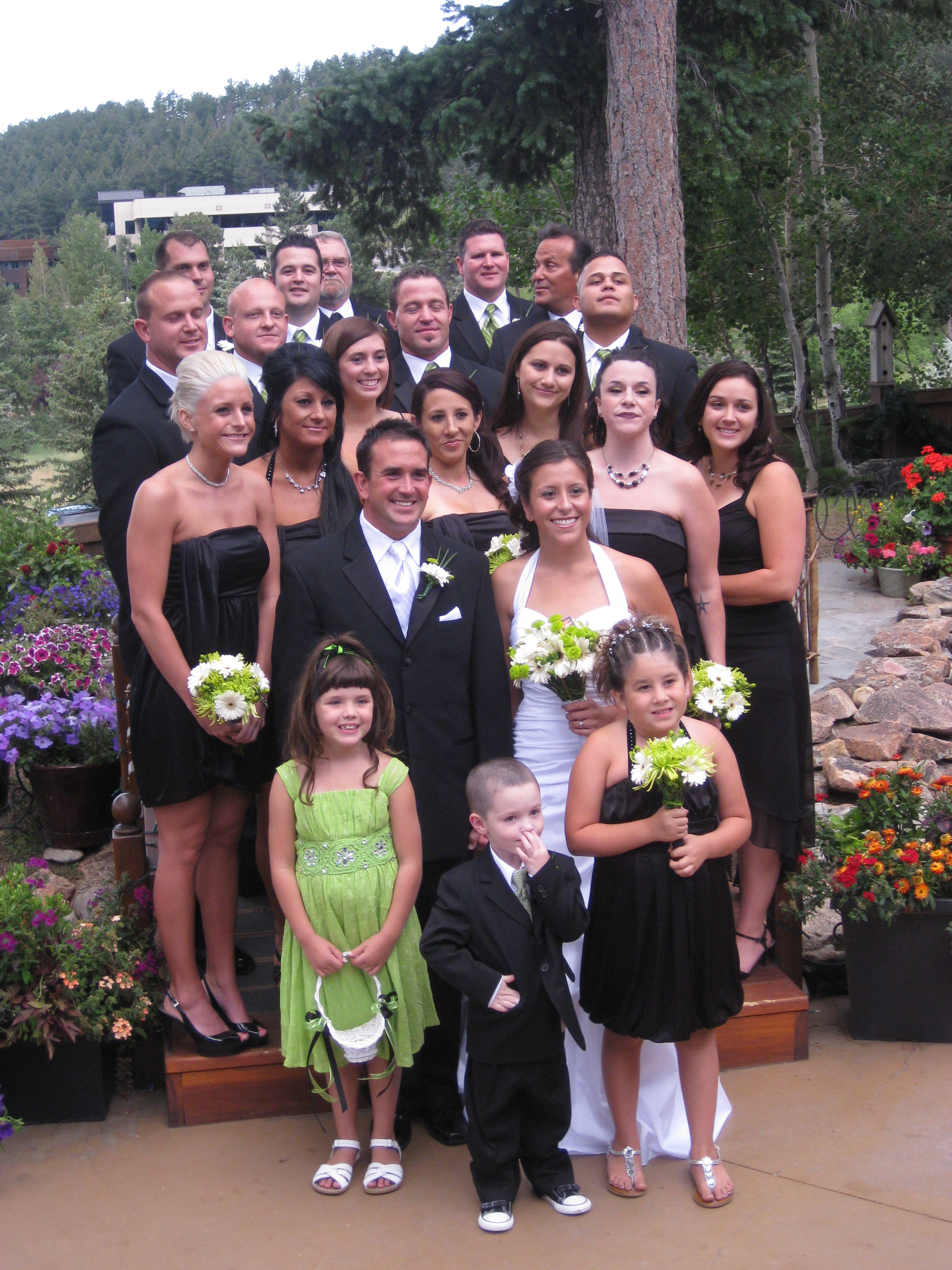 The Bridal Party (Including both of my beautiful sisters)