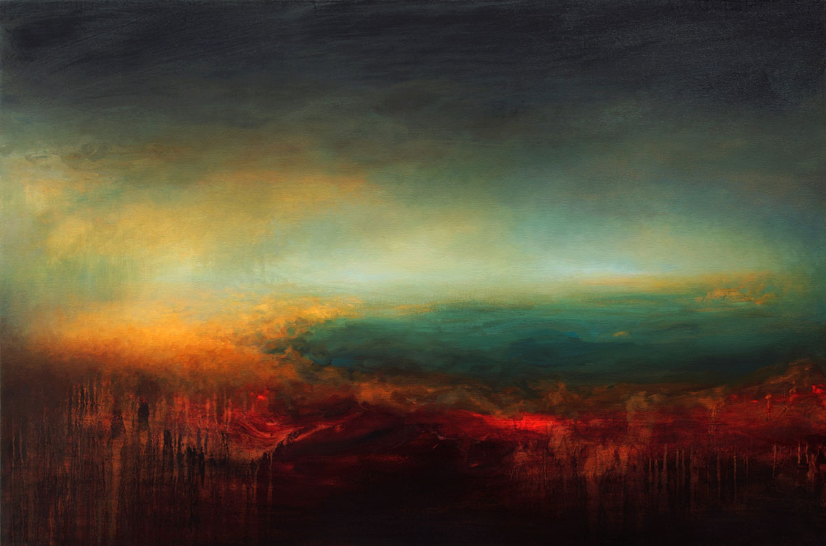 Oceanscape Abstract Art by Samantha Keely Smith