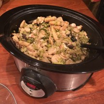 "Chicken and broccoli ingredients: the ""after"" photo."