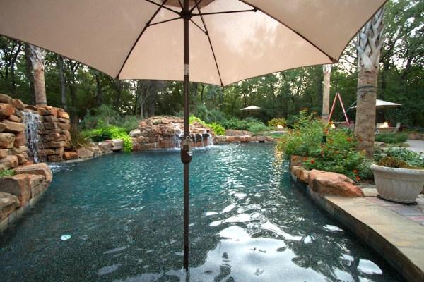 umbrella stand in pool - dallas