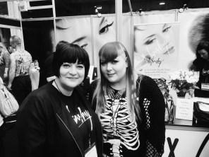 Nikki Taylor with make-up artist Emma Clayton better known as Vanity Venom