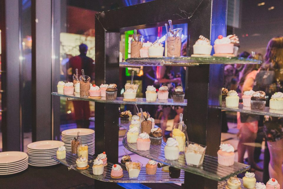 Hard Rock Cafe wedding dessert table photographed by Taylor Made Photography