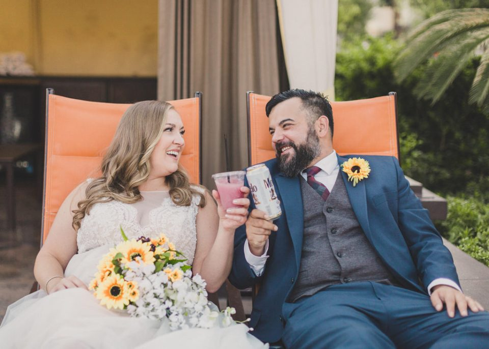 drinks at MGM Grand on wedding day with Taylor Made Photography