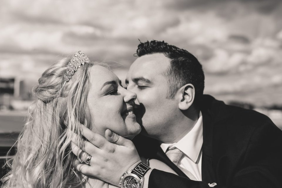 happy couple celebrates Las Vegas wedding day with Taylor Made Photography