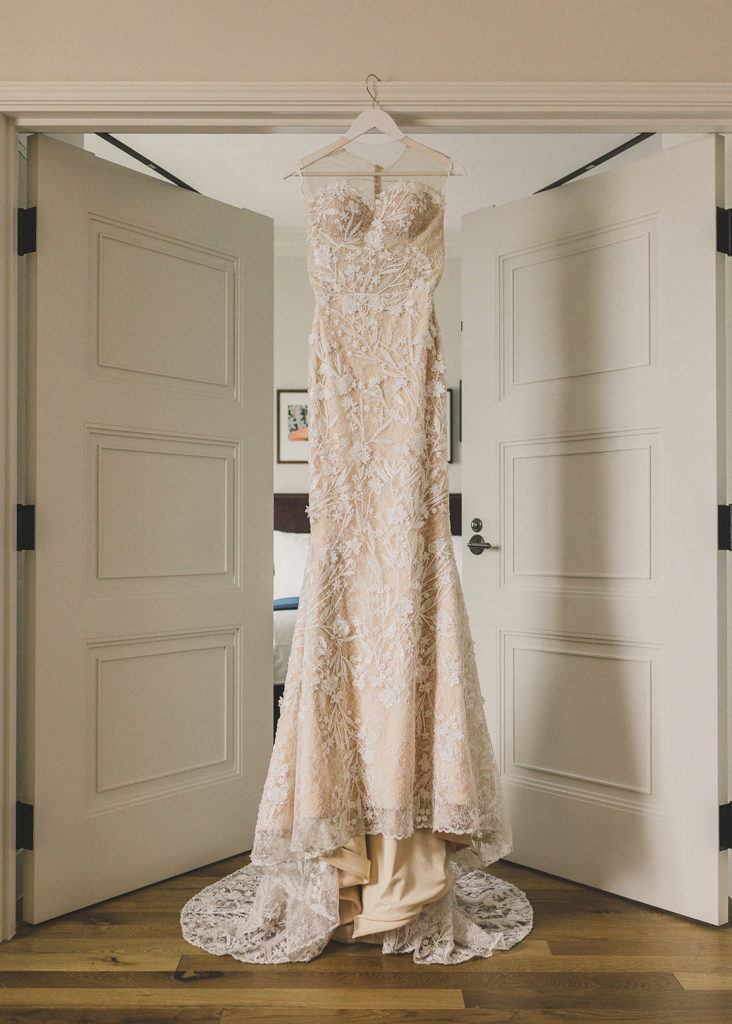 Taylor Made Photography photographs lace boho wedding gown