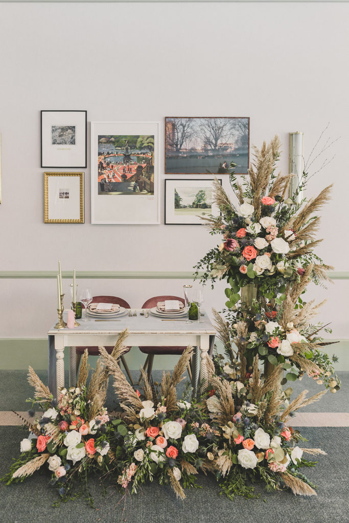 sweetheart table in Nomad Suite by Taylor Made Photography